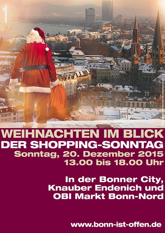 Bonn ist offen Plakat