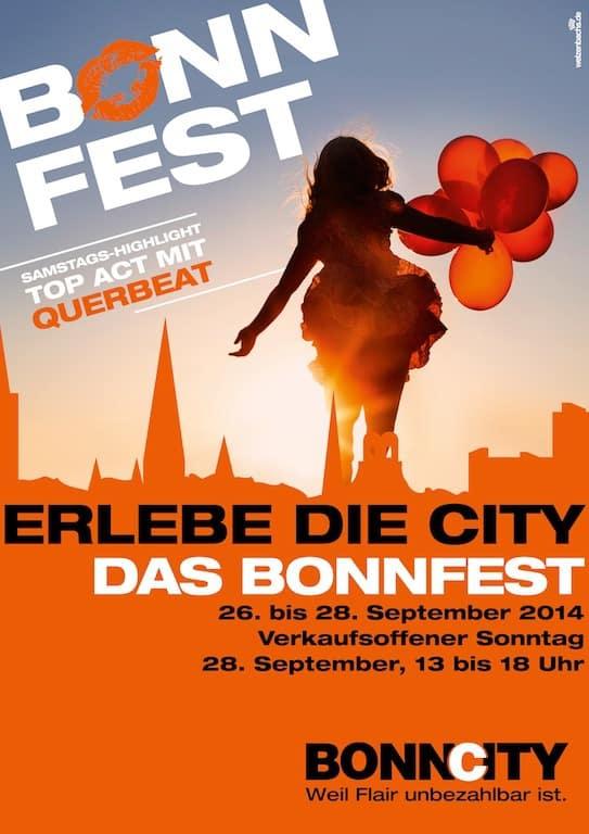 BonnFest 2014 Veranstaltungsplakat